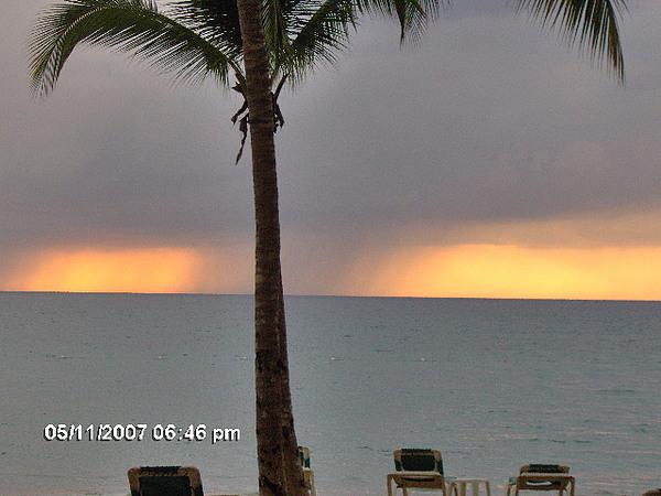 Landscape Photograph - Sunset And Rain Fall by Stephanie Mattis