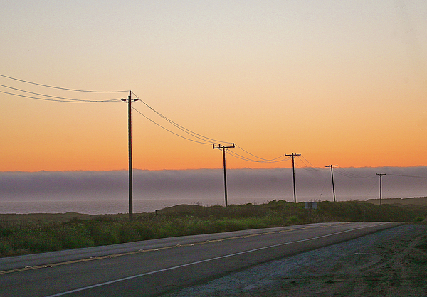 Sunsets Photograph - Sunset And Telephone Wires by Liz Santie