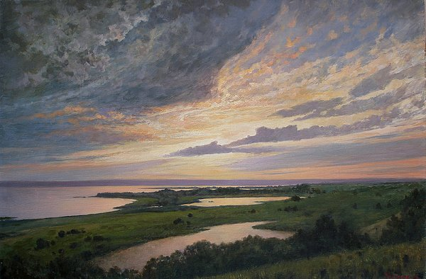 Lanscape Painting - Sunset by Andrey Soldatenko