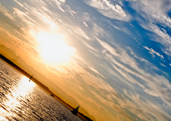 Seattle Photograph - Sunset Angle by Tom Dowd