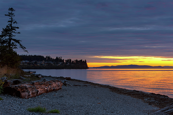 Sunset Photograph - Sunset At Birch Bay State Park by David Gn