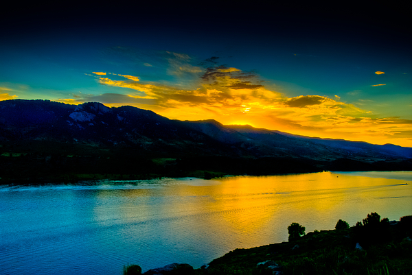 Sunset Photograph - Sunset At Horsetooth Reservoir by Harry Strharsky