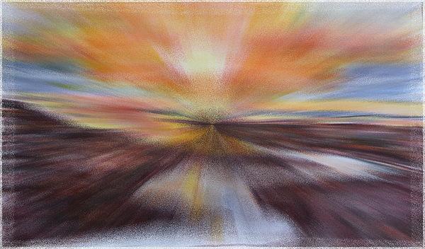 Olympic Peninsula Painting - Sunset At Kalaloch Sketch - Mixed Media  by Joel Deutsch