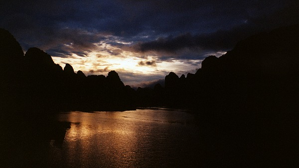 Sunset Photograph - Sunset At Yangshuo In China by Gosta Eger