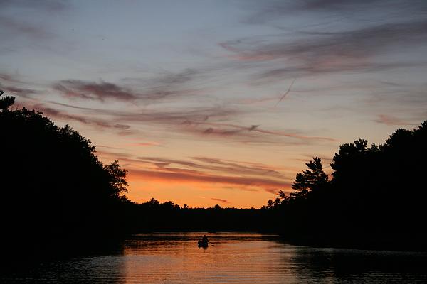 Canoe Photograph - Sunset Canoe by Ty Helbach