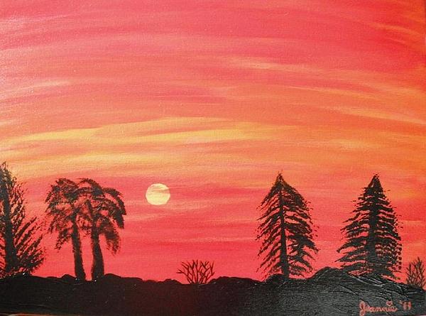 Landscape Painting - Sunset Glow by Jeannie Atwater Jordan Allen
