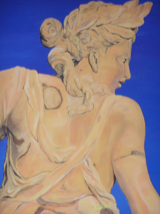 Statues Painting - Sunset Godess by Sarah West