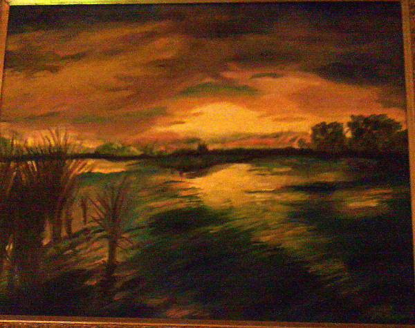Sunset Painting by Helen Vanterpool