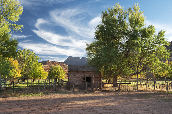 Southwest Photograph - Sunset In Grafton Ghost Town I by Sandra Bronstein