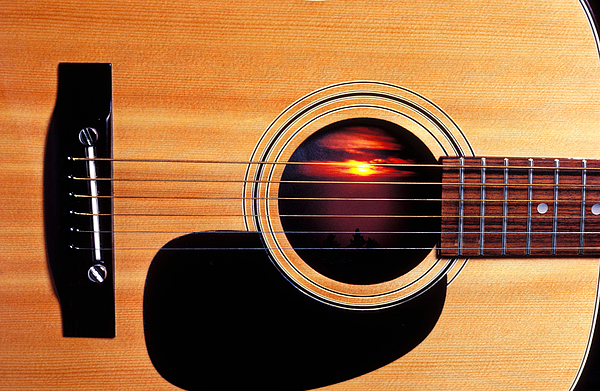 Guitar Photograph - Sunset In Guitar by Garry Gay