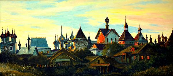 Gorecki Painting - Sunset In Rostov by Henryk Gorecki
