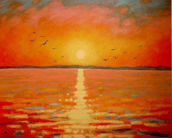 Sunset Painting - Sunset by John  Nolan