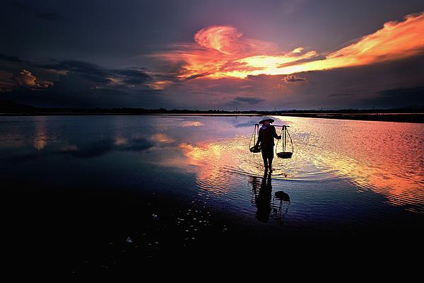 Sunset Photograph - Sunset by Julayne Luu
