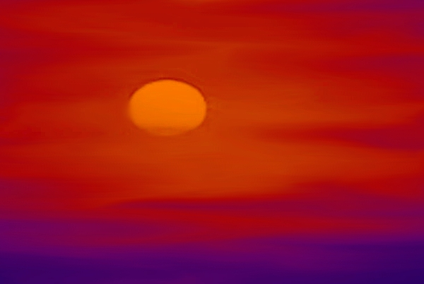 Sunset Painting - Sunset by Karen Conine