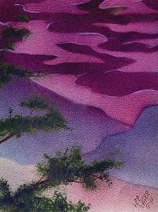 Sunset Print by Lee Yaple
