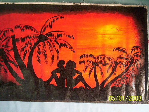 Sunset Love Painting by Derick  nana  mbrah
