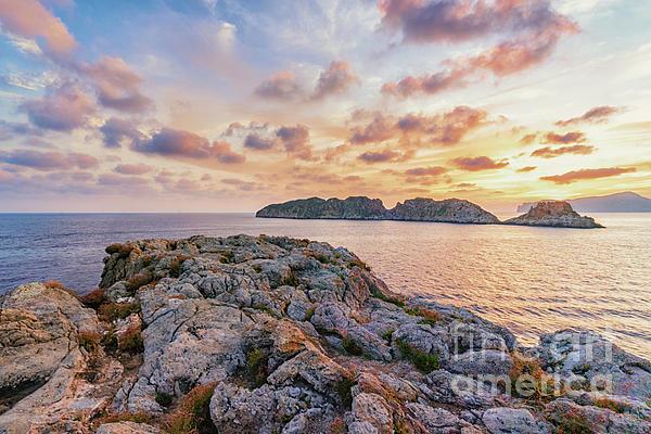 Mallorca Photograph - Sunset Malgrats Islands by Hans- Juergen Leschmann