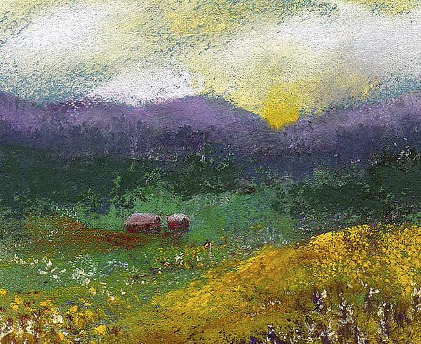 Miniature Painting - Sunset Meadow by David Patterson