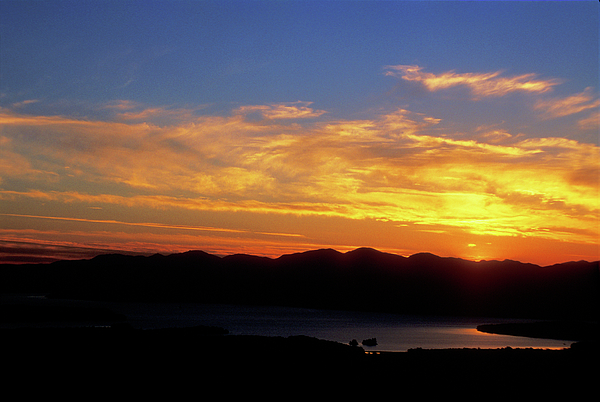 Lake Champlain Photograph - Sunset Over Lake Champlain From Mount Philo by John Burk