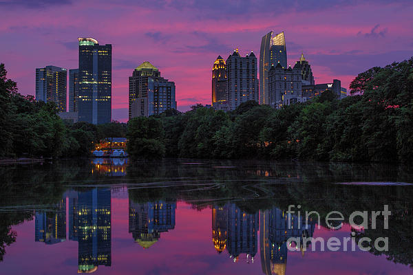 Dogwood Festival Photograph - Sunset Over Midtown by Doug Sturgess