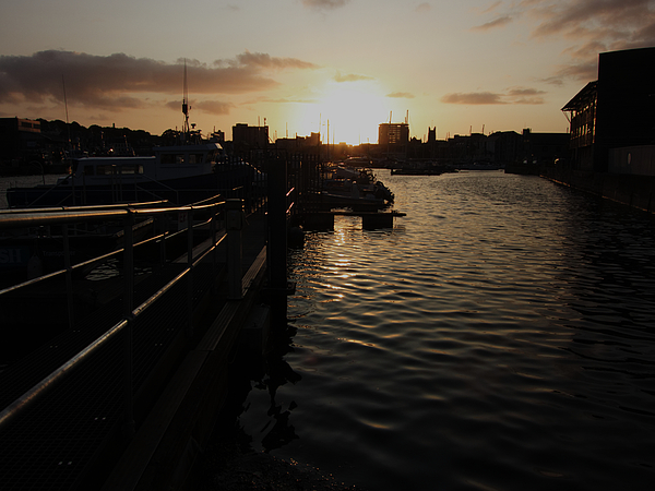 Plymouth Photograph - Sunset Over Sutton Harbour Plymouth by Chris Day