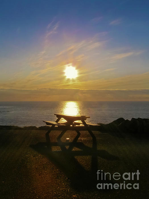 Sunset Photograph - Sunset Picnic by Terri Waters