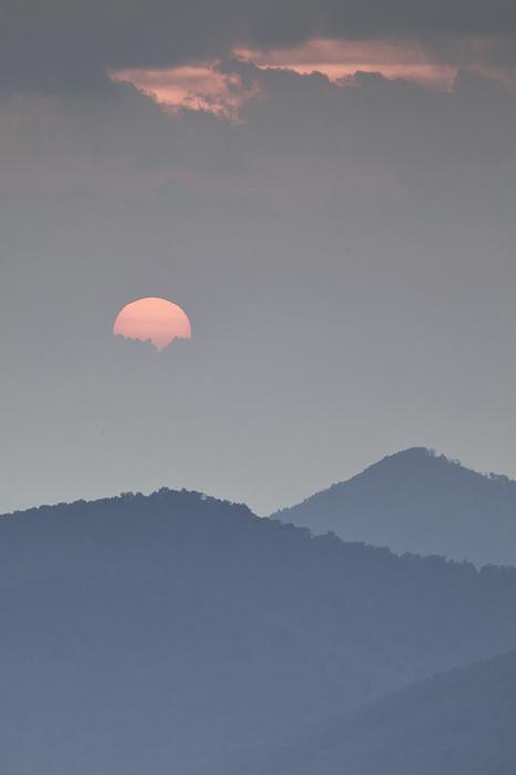 Blue Ridge Parkway Photograph - Sunset Repition - Blue Ridge Parkway Sunset Scene by Rob Travis