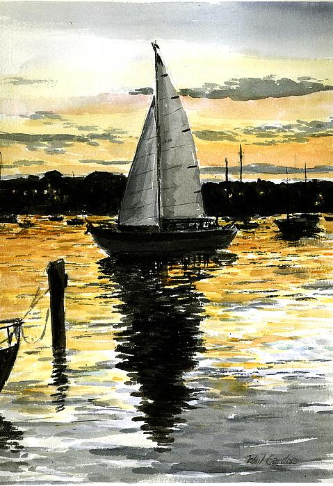 Sunset Ride Painting by Paul Gardner