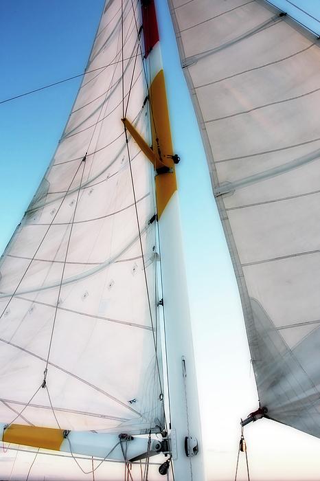 Color Photograph - Sunset Sails 2 by Alan Hausenflock