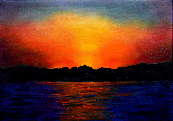 Oil Painting Painting - Sunset Sinai by Helmut Rottler