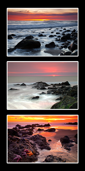 Beaches Photograph - Sunset Triptych by Greg Clure