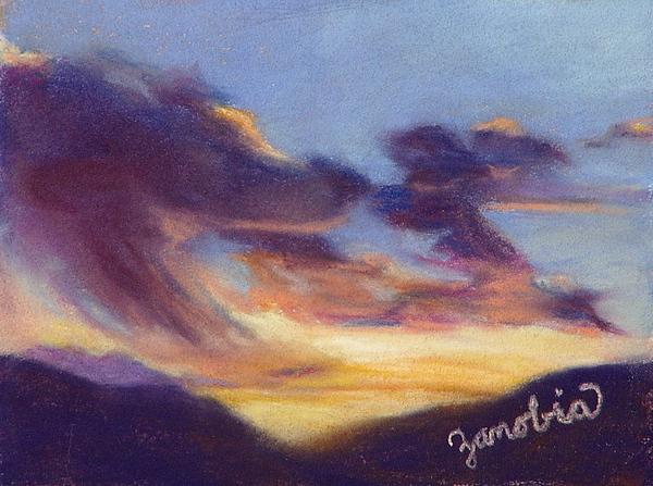 Sunset Pastel - Sunset West Of Town by Zanobia Shalks