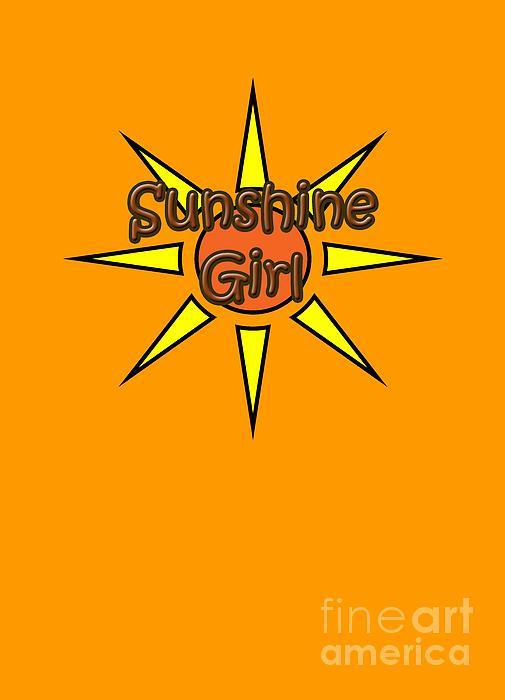 Sunshine Digital Art - Sunshine Girl by Judy Hall-Folde