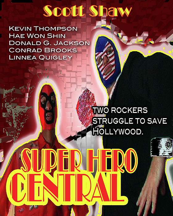 Scott Shaw Photograph - Super Hero Central by The Scott Shaw Poster Gallery