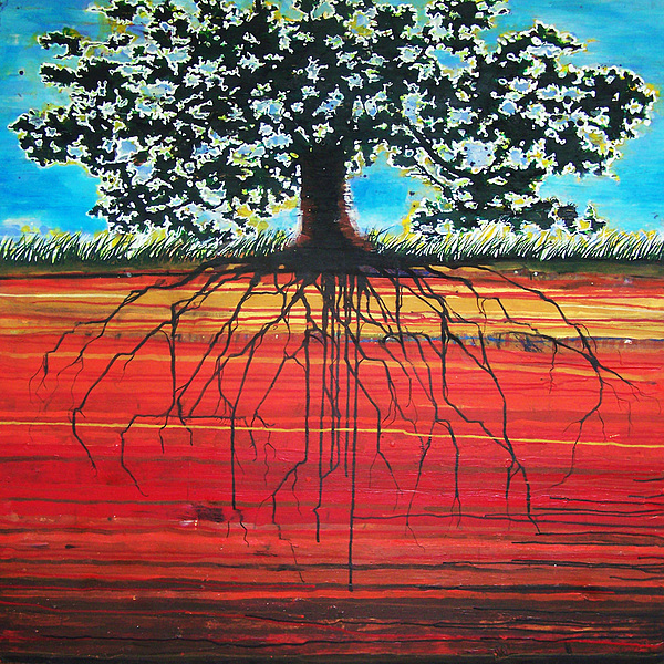 Tree Painting - Super Natural by Jon Fort