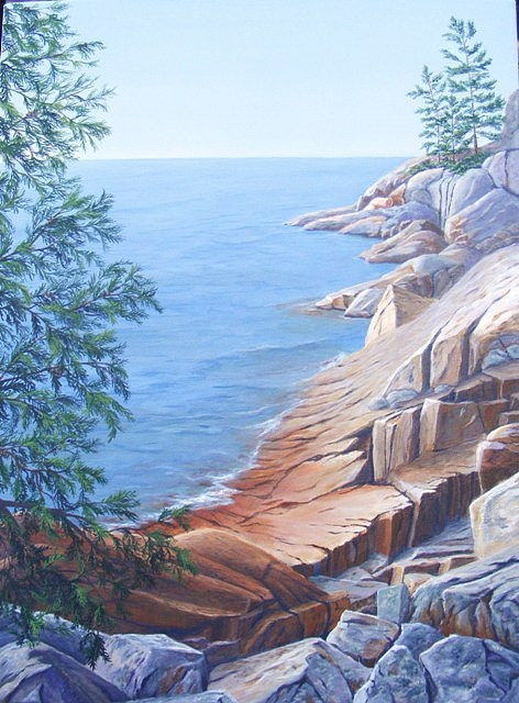 Ontario Painting - Superior Peace  Be Still by Ann Elise