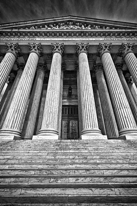 Black Russian Photograph - Supreme Court Building 10 by Val Black Russian Tourchin