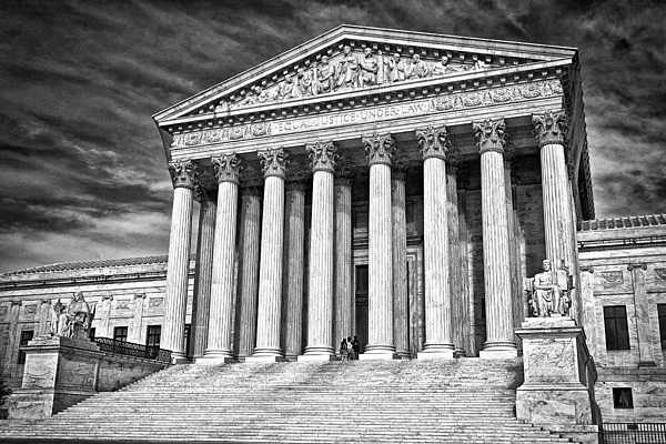 Black Russian Photograph - Supreme Court Building 2 by Val Black Russian Tourchin