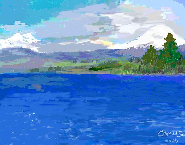 Paint Painting - Sur De Chile Encanto by Carlos Camus