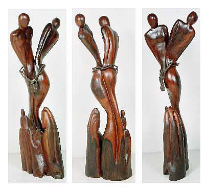 Surrealist Sculpture From Pakistan. Sculpture - Surrealist Wooden Sculpture by Wasan Khattak