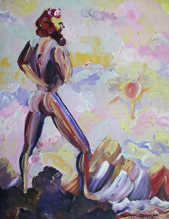 Man Painting - Surveying Creation by Suzanne  Marie Leclair
