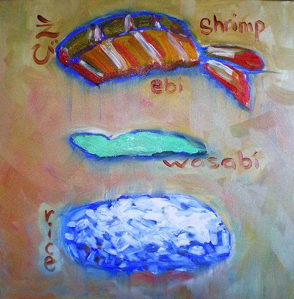 Sushi Painting - Sushi Deconstructed by Sheila Tajima
