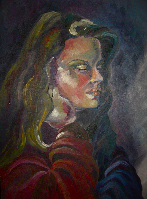 Acrylic Painting - Suzanne by Yxia Olivares