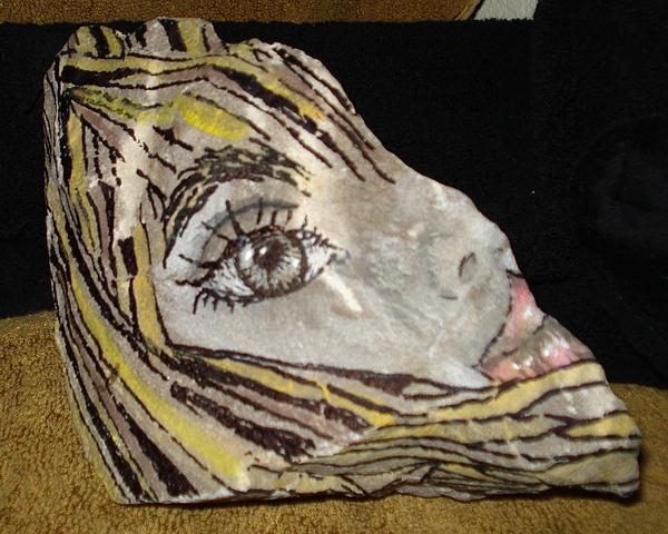 Stone Sculpture - Suzy Q by Ellen Adler
