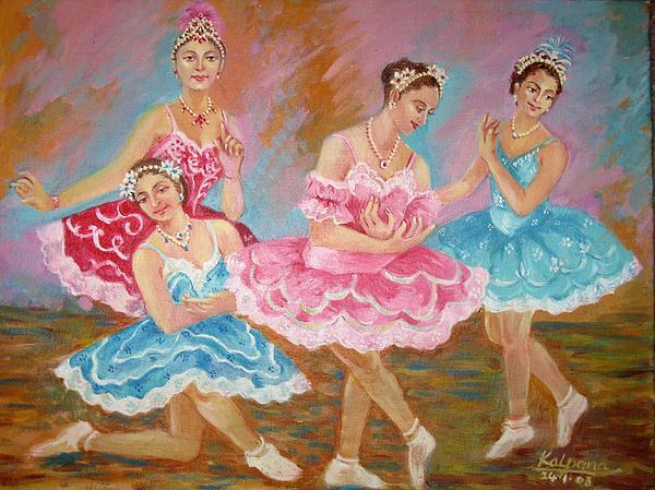 Ballet Dancers Painting - Swan Lake  by Kalpana Talpade Ranadive