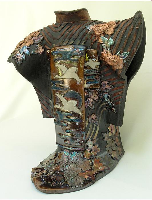 Sweet Fragrance Of Summer Eve Ceramic Art by Ellen Kong