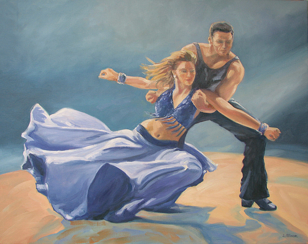 Dance Painting - Swept Away by Jan Allmon
