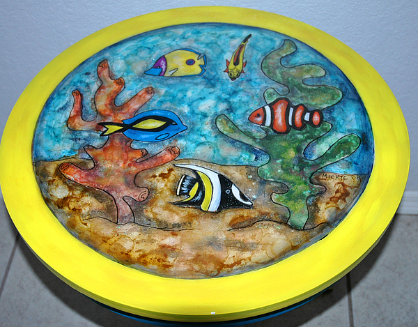 Fish Mixed Media - Swimmin With The Fishes by Mickie Boothroyd