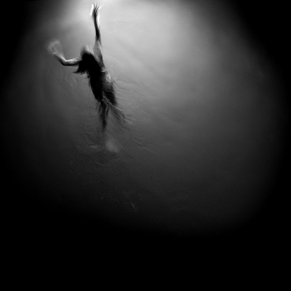 B&w Photograph - Swimming Towards The Light by Cole Thompson