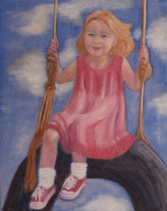 Child Painting - Swingin by Patricia Ortman